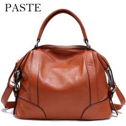 Big Ladies Handbags Canada - 2017 ladies handbag large big shoulder bag for women Brand designer Tote bag 100% Real leather Travel Light Gold Buckle