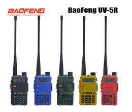 Dual Band Uhf Vhf Portable Australia - pofung 5 Hot pofung uv 5r Portable adios Baofeng 5R two way radio Walkie-talkie 5W vhf uhf dual band Communication Equipment