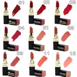 Mixing Red Purple Lipstick Australia - 1pcs Miss Rose brand batom 24color Nude Matte lipstick Matte Velvet Lipstick Beauty Cosmetic long-lasting makeup waterproof