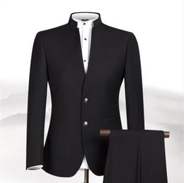 Chinese men s dress online shopping - New S XL Men Chinese Tunic Collar Bridegroom Suit Formal Wear Dress Slim Fit Mens Suits Groom Wedding Blazer Pants Homme Men s Suits