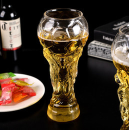 Football beer glasses online shopping - 2018 football World Cup fans gift bar KTV beer glass custom glass cup Creative Cup