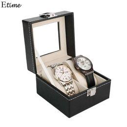 $enCountryForm.capitalKeyWord Australia - Watch Box 2 Grid Slots Watch Winder PU Leather boite montre Jewelry Organizer Watches Display Storage Box Case