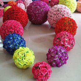 $enCountryForm.capitalKeyWord Australia - Rose balls 6~24 Inch(15~60CM) Wedding silk Pomander Kissing Ball decorate flower artificial flower for wedding garden market decoration