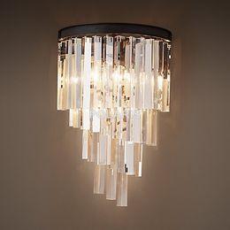 Discount vintage factory lighting - Factory Outlet Modern Art Decor Vintage K9 Crystal Chandelier Wall Sconce Lamp Light Lighting for Home Hotel Dining Room