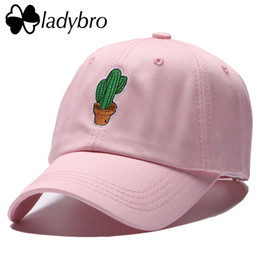 594bde6a8f5 Ladybro Cactus Embroidery Fashion Women Hat Cap Men Baseball Cap Male  Casual Snapback Hip Hop Lady Gorras Drake Dad Hat