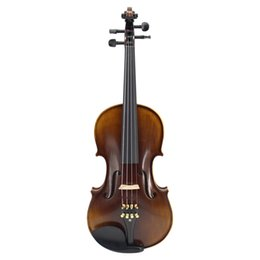 Discount ebony flame - Nature Flamed Maple Acoustic Violin Master Handmade Antique Violin Full Size 1 4,1 2,3 4,4 4 Ebony Parts w  Case Bow Ros