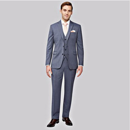 Wholesale purple tuxedo for men wedding for sale - Group buy Custom Made Grey Men Suits For Wedding Slim Fit Classic Business Jacket Wedding Tuxedos Groomsmen Suit jacket pant vest