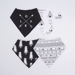 bandana print baby Australia - bibs burp cloth print Arrow wave triangle baby bibs cotton bandana accessories free shipping high quality 2018 hot sale wholesale new arrive