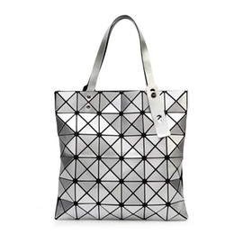 2ec8b8bc86ef BaoBao Bags online shopping - Original Logo Handbag Female Folded Geometric  Plaid Bag Fashion Casual Tote
