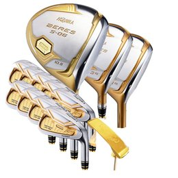 3f0fd5cbaf6 New mens Golf clubs HONMA s-06 4 star golf complete set of clubs driver+fairway  wood club+putter graphite golf shaft headcover Free shipping