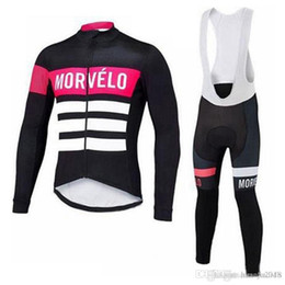 Morvelo team Cycling long Sleeves jersey (bib) pants sets Bicycle Clothing  Set Pro Team Sport Suit Hot Sale Bikes Clothes c1418 0bd281d6c
