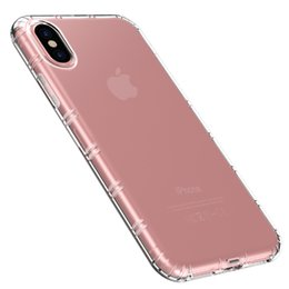 Thin Transparent Flexible Iphone NZ - Thin Air Cushion TPU Case for iPhone X 6 6s 7 8 Plus Flexible Soft Silicone Anti-knock Crystal Clear Transparent Back Cover