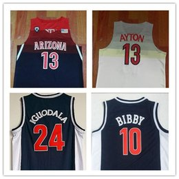 6d9eff449d7 Arizona Wildcats 13 DeAndre Ayton College Basketball Jerseys 24 Andre  Iguodala 10 Mike Bibby Blue University Mens Shirts Top Quality