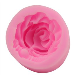 3d rose silicone molds NZ - Hot sell Silicone Rose Design Cake Molds Mini 3D Flower Handmade Soap Moulds Practical Food Grade Resuable Baking Tools For Kitchen