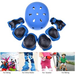 $enCountryForm.capitalKeyWord UK - 7PCS Sports Protective Gear For Kids Children Elbow Pads Knee Pads Wrist Guard Helmet For Multi-Sports Skate Bicycle Scooter
