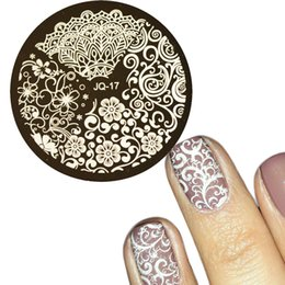 stamped nail art design 2019 - 1pcs HOT Designs Flower Women Polish Stamping for Nails Templates Sexy Beauty Image Nail Art Stamp Plates Nail Stencils