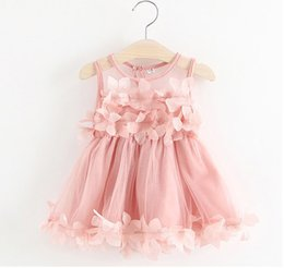 $enCountryForm.capitalKeyWord Canada - Girls Flower Princess Dresses Pink Sleeveless Girls Skirts Lace Korean Summer Dresses for Girl Breathable Cute Baby Skirts