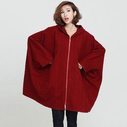 1d7cf1c07d5 Jacket Bat Cardigan UK - 2017 Plus Size Jacket Women Winter Cotton Basic  Coat Solid Fashion