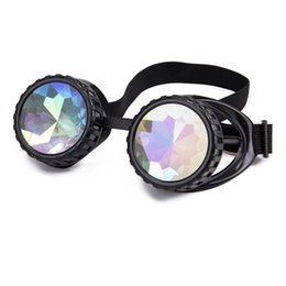 0fd049ac19885 FLORATA Steampunk Goggles Welding Cyber Punk Vintage Sunglasses Retro Gothic  kaleidoscope Colorful Glasses Cosplay Eyewear