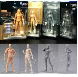 Movable toy doll online shopping - Action Figma Man Female Skin Color Archetype He She Ferrite Figma Movable Figma pvc Action Figure Model Toys Doll