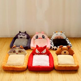 cat beds medium NZ - Cartoon Multi Style Four Seasons Universal Dog Bed Kennel Small And Medium Dog Cat Nest Dog Mat Washable Pet Products