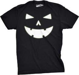 $enCountryForm.capitalKeyWord UK - HAPPY TOOTH GLOWING PUMPKIN FACE TSHIRT funny tshirt Halloween party Halloween custom printed tshirt 100% cotton