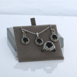 $enCountryForm.capitalKeyWord Australia - wedding elegant jewelry set earrings rings and necklace pendant for best gift