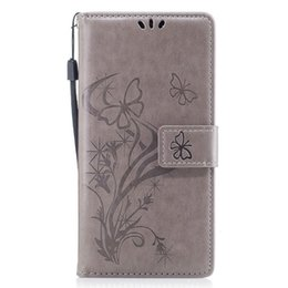 Chinese  For iPhone Xs Max Xr 8 Plus 7 Huawei Mate 10 Xiaomi Redmi Note4 Embossed Flower Card Holder Wallet Flip Leather Case Cover manufacturers
