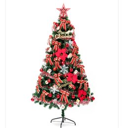 $enCountryForm.capitalKeyWord Australia - Christmas Tree Package Red Golden Decoration Package 1.5M Tree Christmas Decorations including Ribbon Ball Bow Flower Ornament