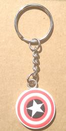 $enCountryForm.capitalKeyWord Canada - Wholesale custom keychain, club soccer custom rubber 3D soft pvc keychain,T-shirt cloth pvc key ring Captain America super heroes