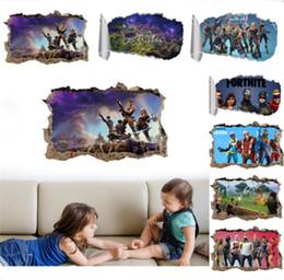 Jeu Fortnite Mur Décor Autocollant Art Image Quinzaine De La Bataille Royale 9 Couleurs Chambre Salon Décorations De Noël Stickers Muraux Cadeau