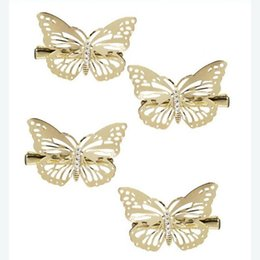 China 6Pcs Shining Metal Hair Clips Golden Butterflies Hairpins Grips Barrette Clamps For Wedding Hair Pins Girls Accessories cheap bohemian hair clamp suppliers