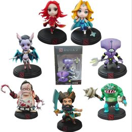 Vente en gros DOTA 2 Jeu Figure Kunkka Lina Pudge Reine Tidehunter CM FV PVC Figurines Collection dota2 Jouets