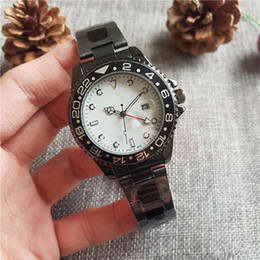 gmt dive watch Australia - 2019 large watch Luxury New Gent's GMT II quartz Self Wind Watches Stainless Steel Dive White Black Silver Master 40mm Mens Watch