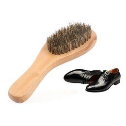 $enCountryForm.capitalKeyWord UK - Curved shoe brush leather shoes cleaning brush pig bristle decontamination elasticity No deformation renovation wooden brush tools