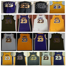 18-19 Wholesale New Mens New LeBron James jersey Stitched 23  LeBron James  Basketball jerseys White Yellow Black LBJ shirst Free Shipping affordable  mens ... 0d3b5c23b