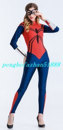 Unisex Spiderman Trajes Outfit Nova Red / Lycra Azul Spandex Spiderman Terno Catsuit Fantasias Fantasia Super Herói Spider Body Suit Outfit P296