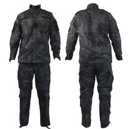 Discount combat suit army - US ACU army uniform cotton polyester men uniform set Tactical suit Combat uniforms