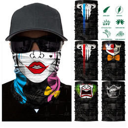 Neck face shield online shopping - 3D Printing Clown Seamless Headscarf Face Shield Neck Gaiter Scarf Wrap Sweatband Headband For Hunting Cycling Multi Purpose Free DHL G704F