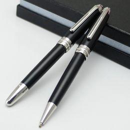 high quality pen brands 2019 - Luxury High Quality MT brands Meisterprice #163 Matte black Rollerball pen Ballpoint pen metal school office with Nunber