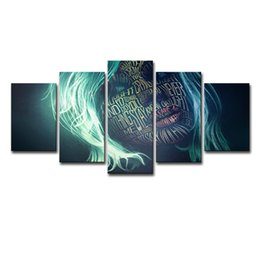 $enCountryForm.capitalKeyWord Australia - Wall Art Posters For Living Room Home Decor Frames Abstract Pictures 3 Pieces Women Letter Graffiti Face Canvas Painting
