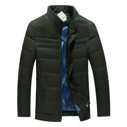 Wholesale puff coats resale online – Mature Man Casual Puffer Jackets Winter Basic Coats Male Leisure Puff Outerwear Men Mandarin Collar Padded Jackets Wadded Coats