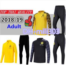 Compre 18 19 Borussia Dortmunds Traje De Supervivencia Traje De  Entrenamiento Kits Chándal 2018 2019 REUS PULISIC KAGAWA M.GOTZE Pantalones  De Manga Larga ... 4b4dc3a7f0947