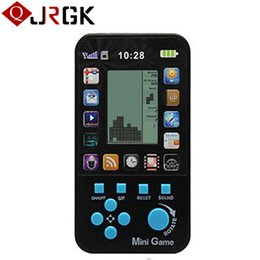 classic tetris game NZ - Classic Tetris Game Console Portable Mini Childhood Handheld Game Players Children Kid Intelligence Toys Consoles Wholesale