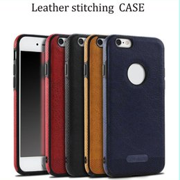 S6 pattern caSe online shopping - For iPhone X sFoSamsung Note8 S8 S7 S6 Business Leather Pattern Stitching Phone Case TPU Soft Shell Full Protection Anti drop Case