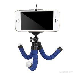 Cep Telefonu Için esnek Tripod Tutucu Araba Kamera Gopro Evrensel Mini Ahtapot Sünger Klip Özçekim Monopod Dağı Ile Klip Standı OPPBAG