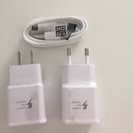 Galaxy S5 Charging Cable Wholesale Australia - 50pcs, 1.2m Micro USB Data cable + EU US Plug Fast Charging Wall Charger adapter for Samsung Galaxy S8 S9 S7 S6 Edge Note 5 4 S5