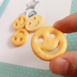 Chinese  crafts diy Tanduzi 20pcs Cute Flatback Resin Cabochons Simulation Fried Food Smile Face Potato Cake DIY Dollhouse Deco Parts Resin Crafts manufacturers