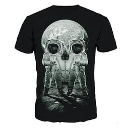 Ingrosso T-Shirt Astronauta Skulls Stampa T-Shirt Uomo Extra Taglie T-Shirt Vendita 3D T-Shirt Skull 3D T-Shirt Fitness Uomo Nuovo Arrivo manica corta