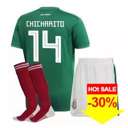 Chicharito Jersey Kids UK - 2018 Mexico Soccer Jerseys Home Away 10 G.DOS  SANTOS 75b2589cc